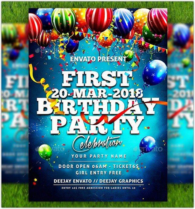 First Birthday Flyer