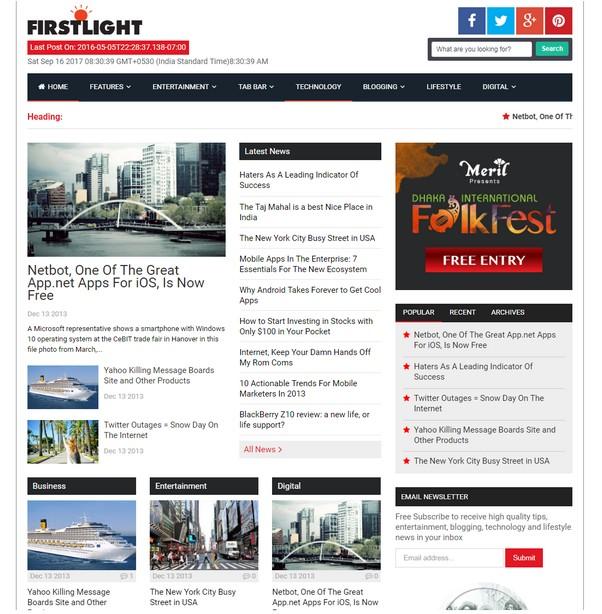 FirstLight - A Responsive Blogspot Blogger Template
