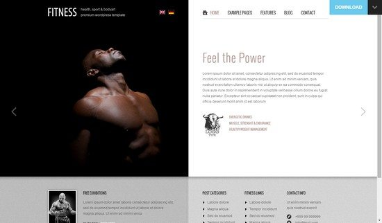 Fitness Unique design meets WordPress