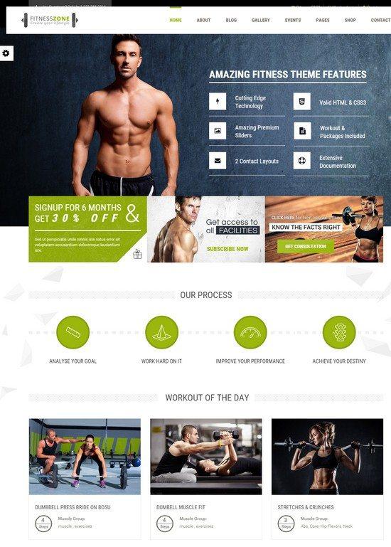 Fitness Zone Gym, Sports WordPress Theme