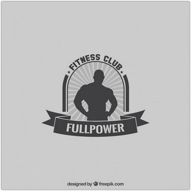 Fitness club logo Free Vector
