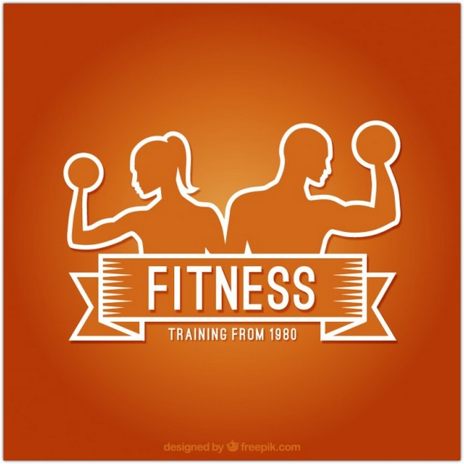 Fitness logo Free Vector