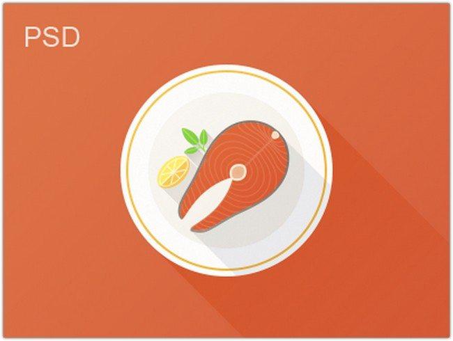 Flat Fish freebie PSD