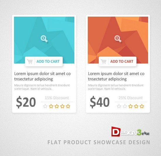 Flat Product Showcase Design (PSD)