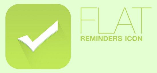 Flat Reminders Icon PSD