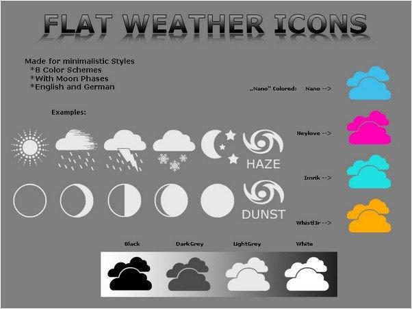 Flat Weather Icons