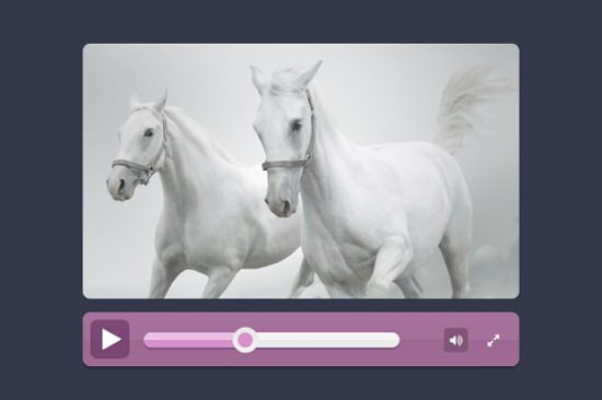 Flat video player free PSD
