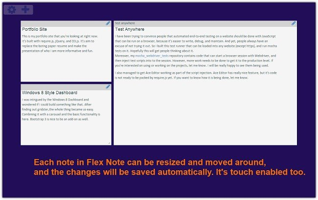 Flex Note (Desktop)