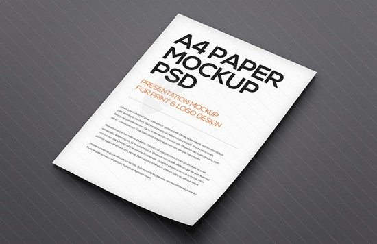 Floating A4 Paper Mockup Vol 1
