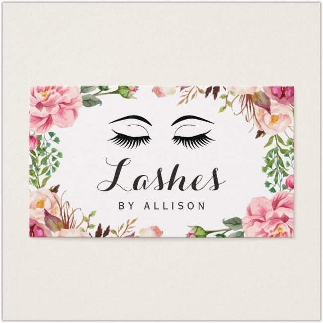 Floral Business Card Font