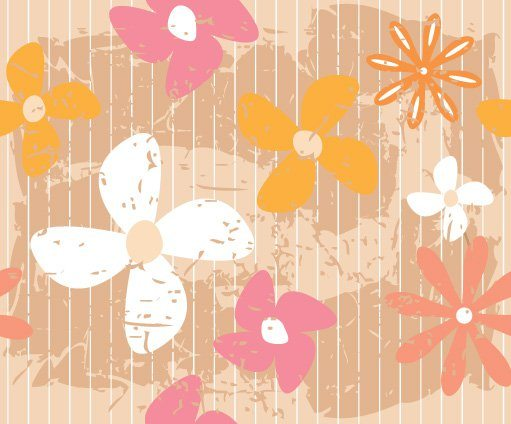 Flower Wall Vector Graphic