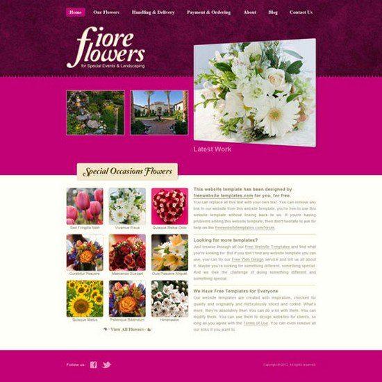 FlowerShop Website Template