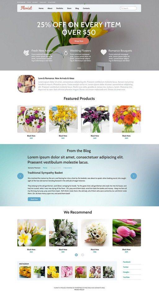 Flowers WooCommerce Theme