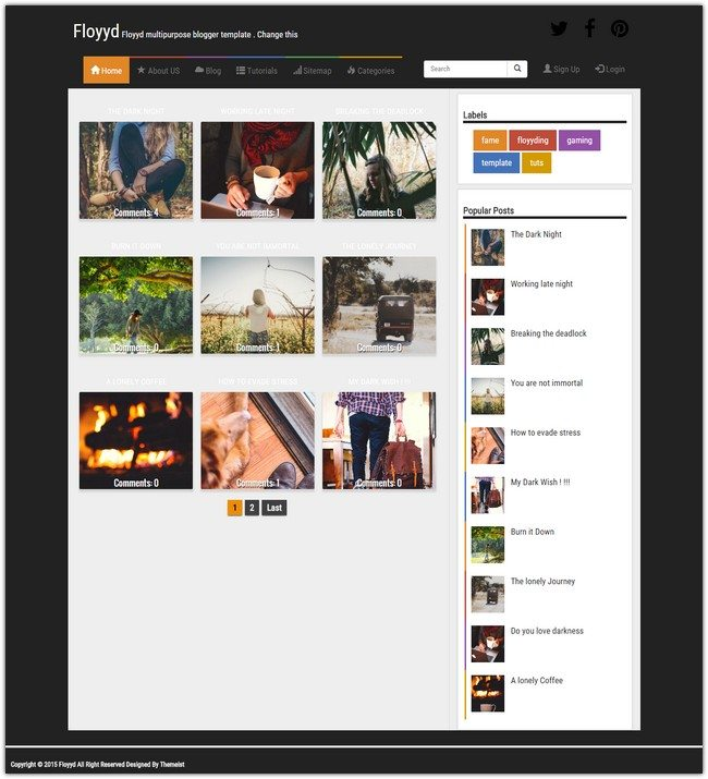 Floyyd Blogger Template