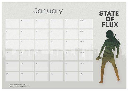 Flux Printable Calendar