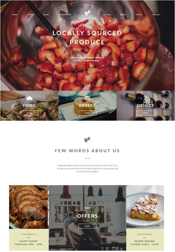 FlyCoffee - Bar and Restaurant HTML Template