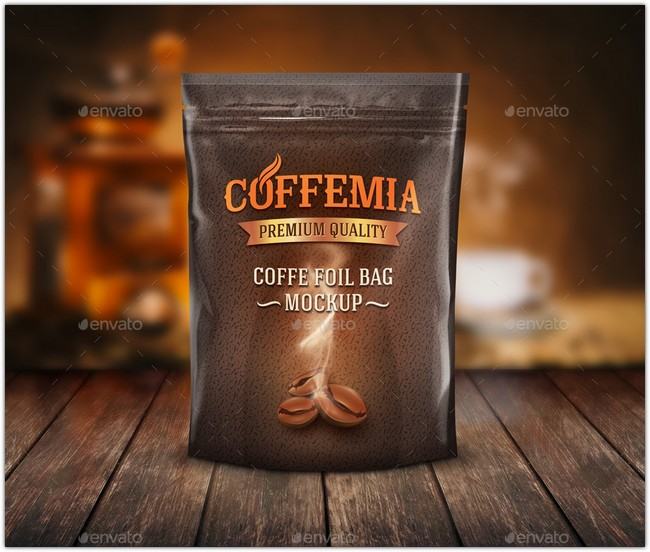 Foil Coffee Bag Mock-Up # 2