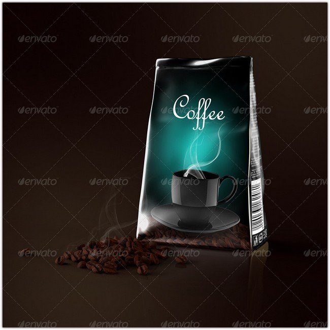 Foil Coffee Bag Mock-up