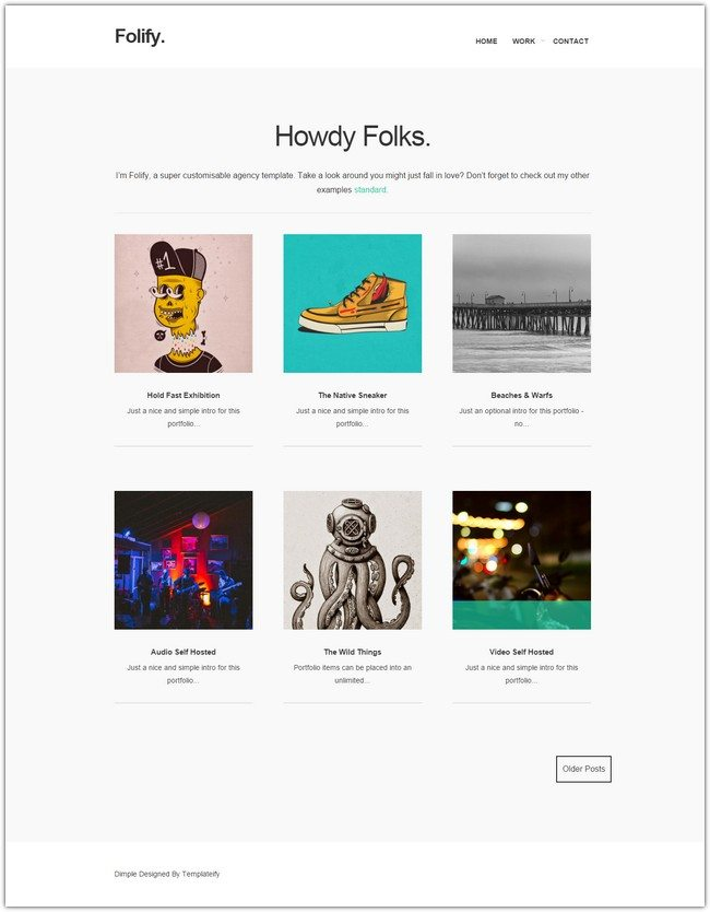 Folify Blogger Templates