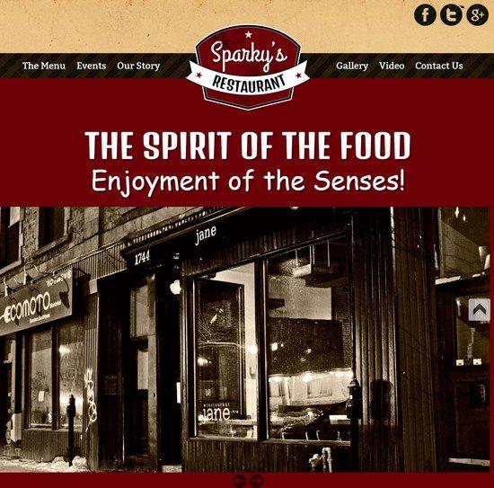 Food Spirit Template For Restaurants