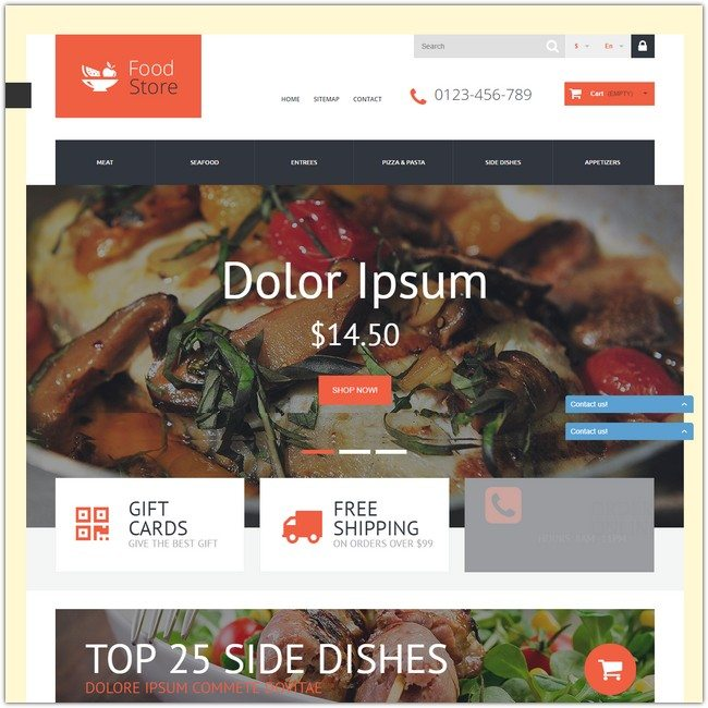 Foodie PrestaShop Theme
