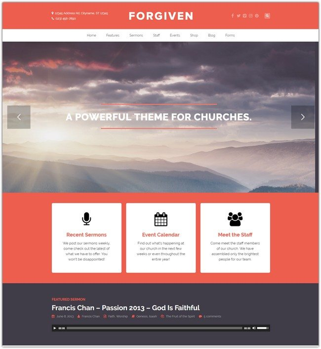 Forgiven – A WordPress Theme for Churches