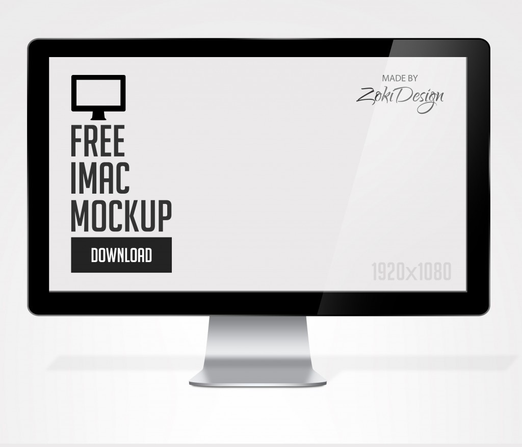 Free Apple iMac Mock-up