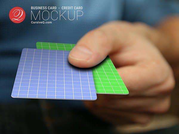 Free Business Card / Credit Card Hand Mockup