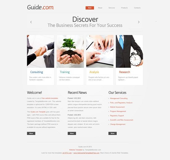 Free Business Template - jQuery Cycle Slider