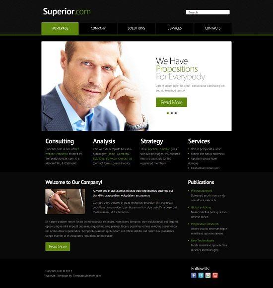 Free Business Website Template - jQuery Slider