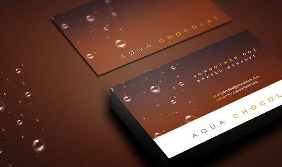 Free Chocolate Business Card PSD