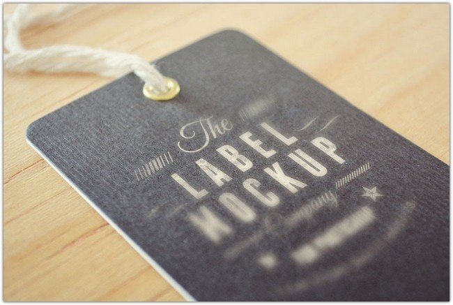 Free Download Tag Label Mockup Vol2