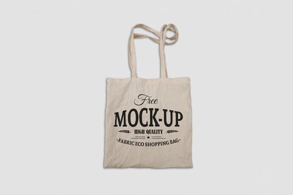 Free Fabric Eco Bag Mockup