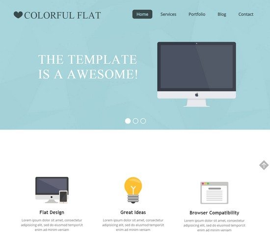 Free Flat Single Page Responsive web template
