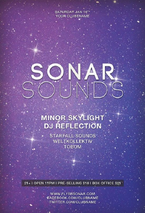 Free Flyer Sonar Sound Minimal Electro Template
