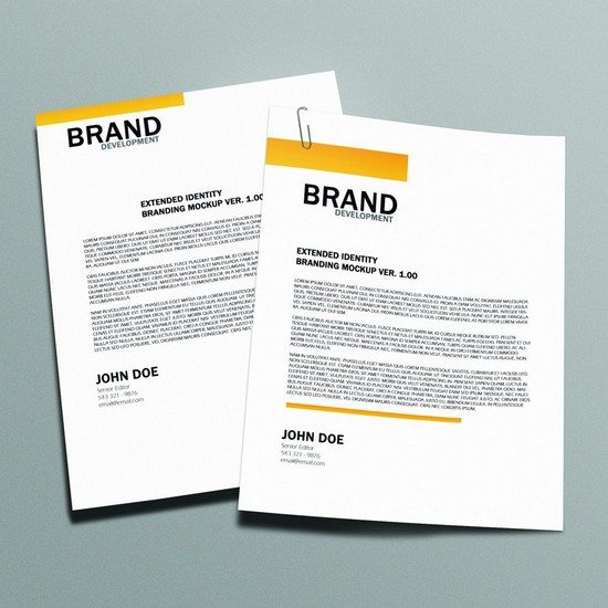 Free Letterhead Mock-up Version 2.0