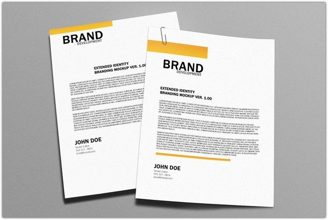 Free Letterhead Mockup Version 2.0