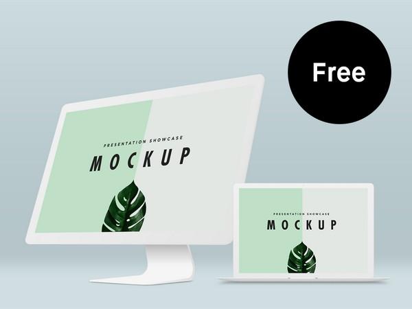 Free Macbook Pro & iMac Mockup Template