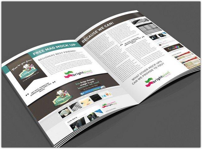 Free Magazine Page Layout Mock Up