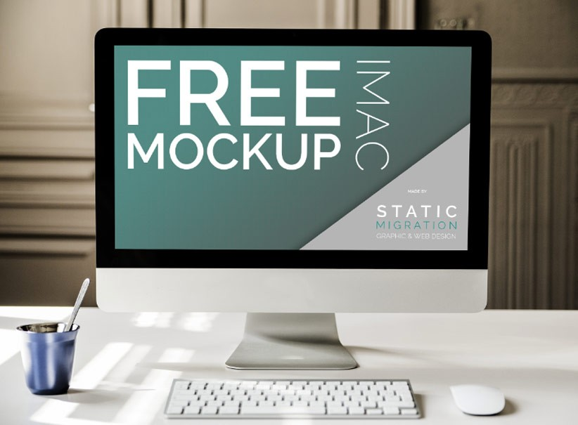 Free Mock-ups Psd Imac