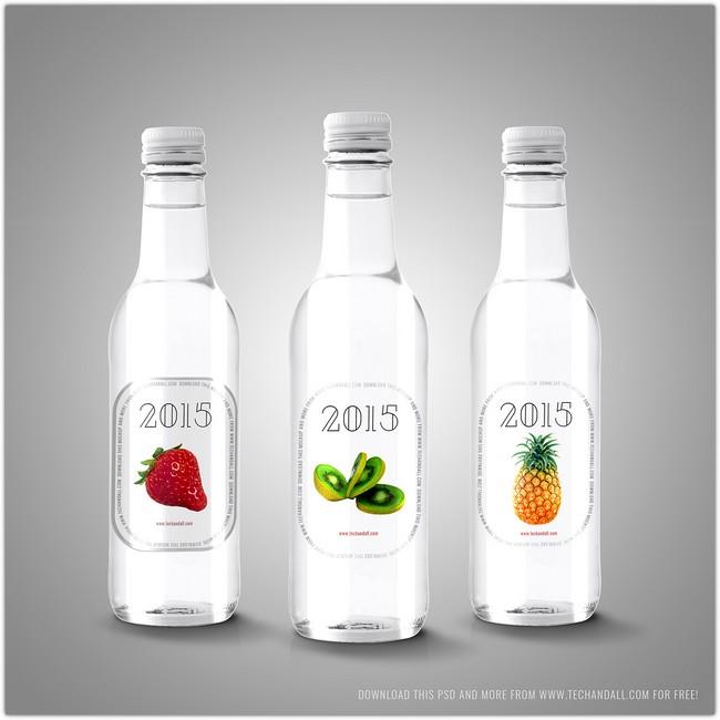 Free Mockup Labels on Bottles