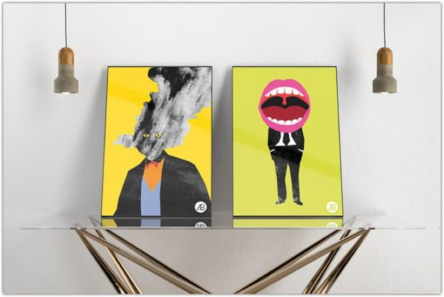 Free Modern Double Poster Mockup Vol.3