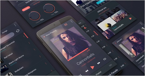 Free Music Player UI Kit for Android