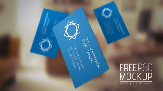 Free PSD Mockup – Business card