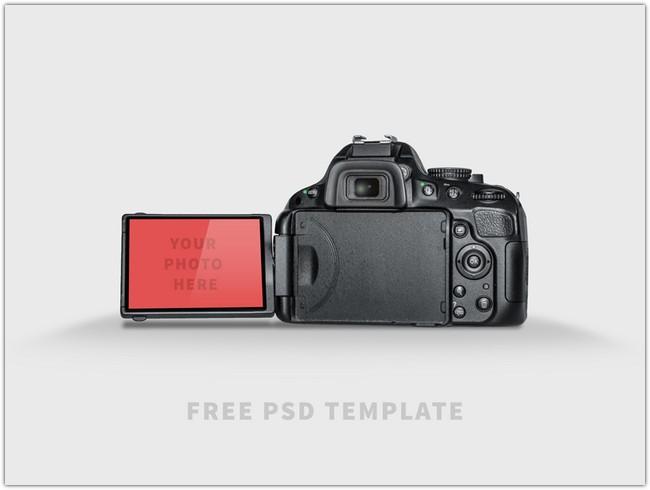 Free PSD Template - DSLR Mock-UP