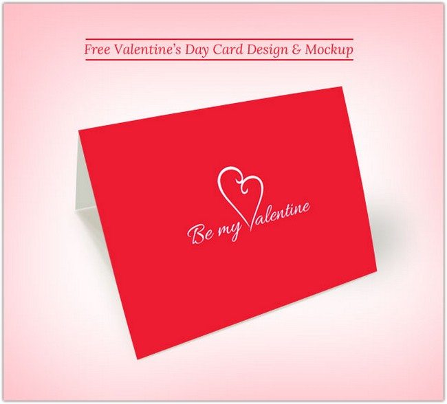Free Printable Valentine's Day Card Design