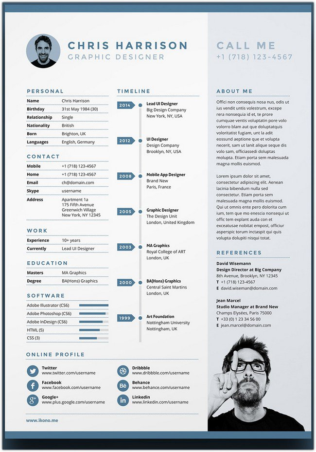 Free Resume Template # 4