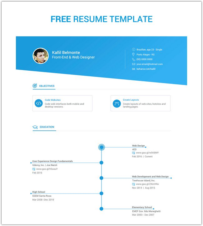 Free Resume Template v1