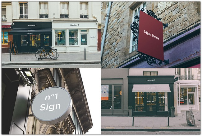 Free Signs Facades Mock-up