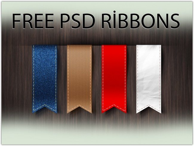 Free Vertical Ribbons Template